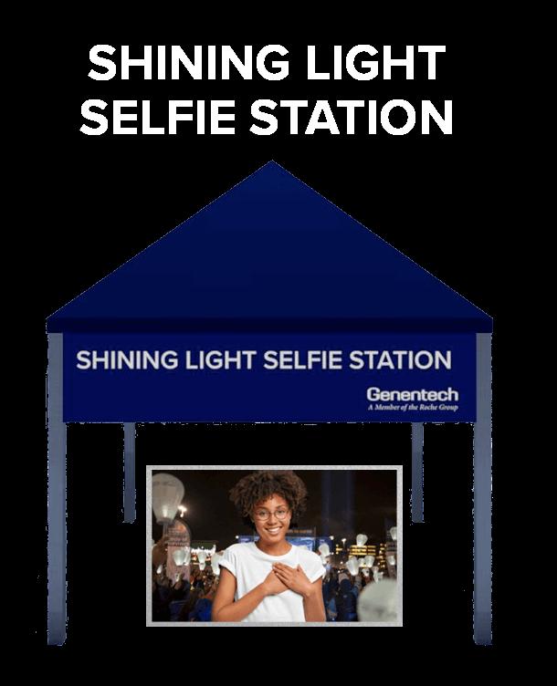 Shining Light Selfie Station